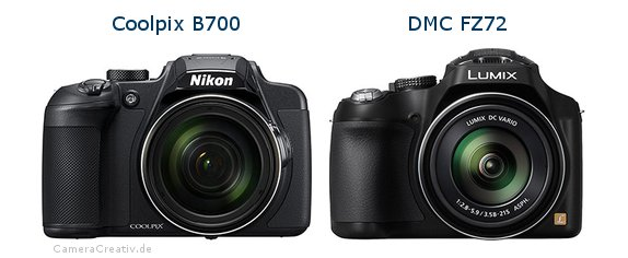 Nikon coolpix b700 vs Panasonic dmc fz 72