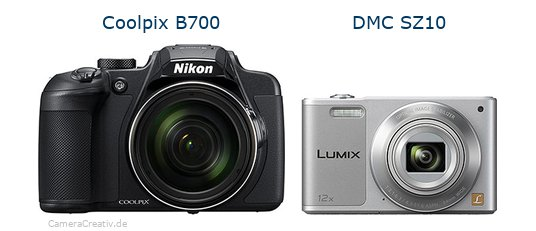 Nikon coolpix b700 vs Panasonic dmc sz 10