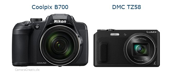 Nikon coolpix b700 vs Panasonic dmc tz 58