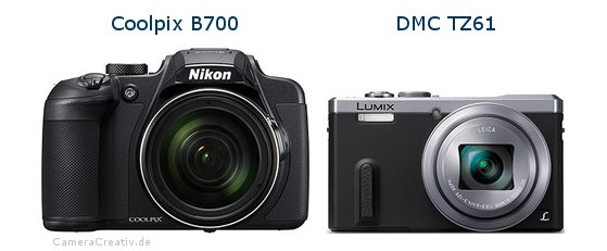 Nikon coolpix b700 vs Panasonic dmc tz 61