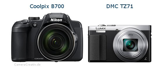 Nikon coolpix b700 vs Panasonic dmc tz 71