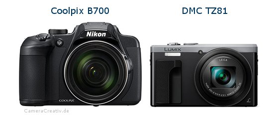 Nikon coolpix b700 vs Panasonic dmc tz 81