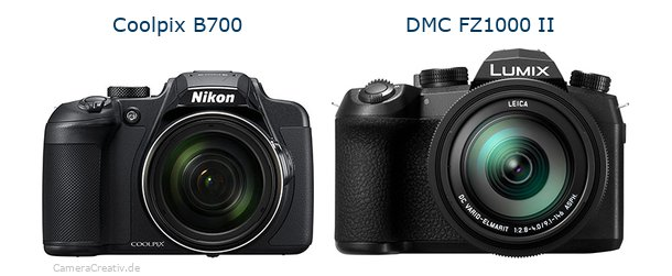 Nikon coolpix b700 vs Panasonic lumix fz1000 ii