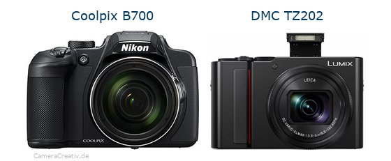 Nikon coolpix b700 vs Panasonic lumix tz 202