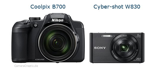 Nikon coolpix b700 vs Sony w830