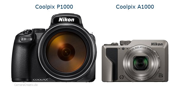 Nikon coolpix p1000 vs Nikon coolpix a1000