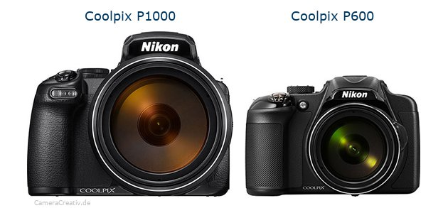 Nikon coolpix p1000 vs Nikon coolpix p600