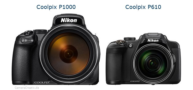 Nikon coolpix p1000 vs Nikon coolpix p610