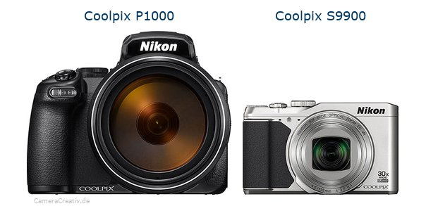 Nikon coolpix p1000 vs Nikon coolpix s9900