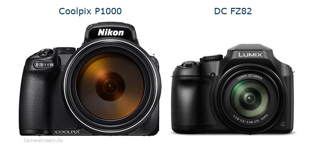 Nikon coolpix p1000 vs Panasonic dc fz 82