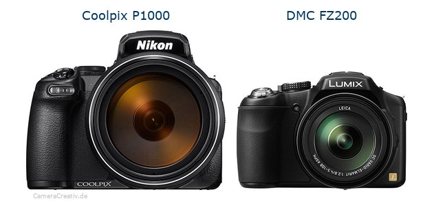 Nikon coolpix p1000 vs Panasonic dmc fz 200