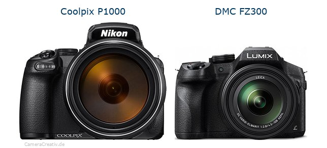 Nikon coolpix p1000 vs Panasonic dmc fz 300