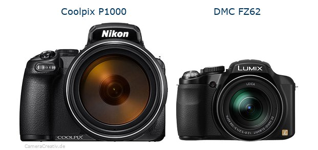 Nikon coolpix p1000 vs Panasonic dmc fz 62