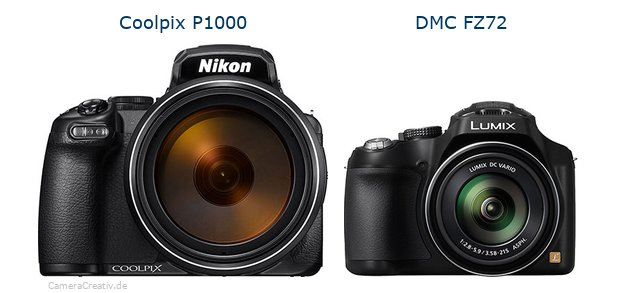 Nikon coolpix p1000 vs Panasonic dmc fz 72