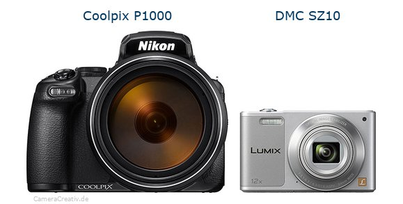 Nikon coolpix p1000 vs Panasonic dmc sz 10