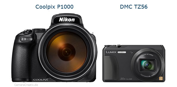 Nikon coolpix p1000 vs Panasonic dmc tz 56