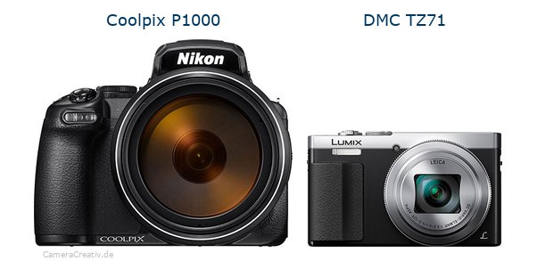 Nikon coolpix p1000 vs Panasonic dmc tz 71