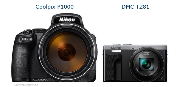 Nikon coolpix p1000 vs Panasonic dmc tz 81