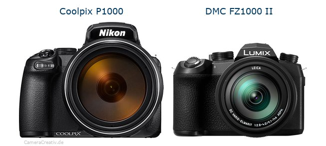 Nikon coolpix p1000 vs Panasonic lumix fz1000 ii