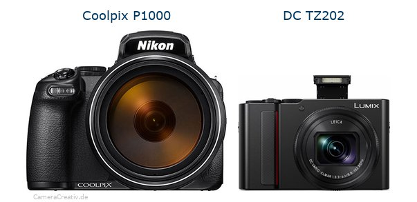 Nikon coolpix p1000 vs Panasonic lumix tz 202