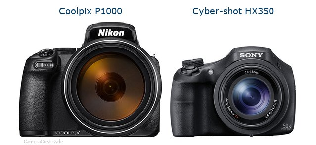 Nikon coolpix p1000 vs Sony cyber shot hx350