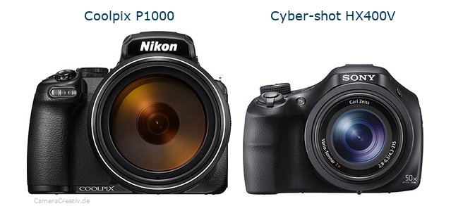 Nikon coolpix p1000 vs Sony cyber shot hx400v