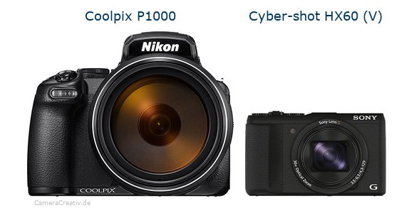 Nikon coolpix p1000 vs Sony cyber shot hx60