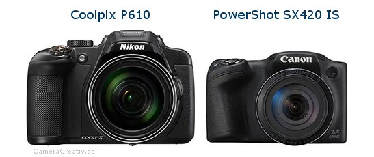 Nikon coolpix p610 vs Canon powershot sx420 is