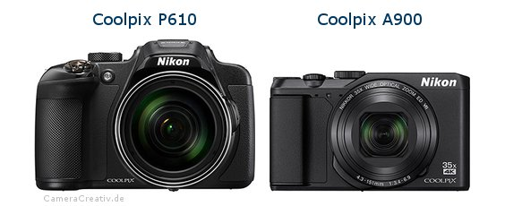 Nikon coolpix p610 vs Nikon coolpix a900