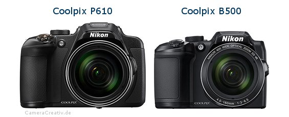 Nikon coolpix p610 vs Nikon coolpix b500