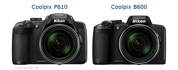 Nikon coolpix p610 vs Nikon coolpix b600