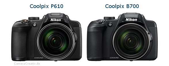 Nikon coolpix p610 vs Nikon coolpix b700