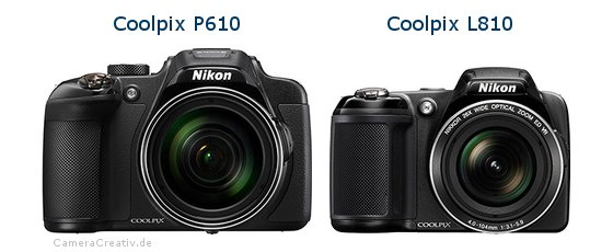 Nikon coolpix p610 vs Nikon coolpix l810