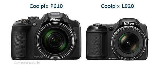 Nikon coolpix p610 vs Nikon coolpix l820