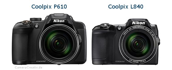 Nikon coolpix p610 vs Nikon coolpix l840