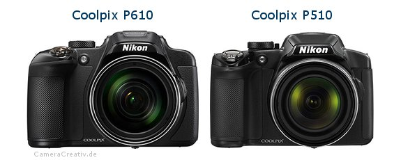Nikon coolpix p610 vs Nikon coolpix p510