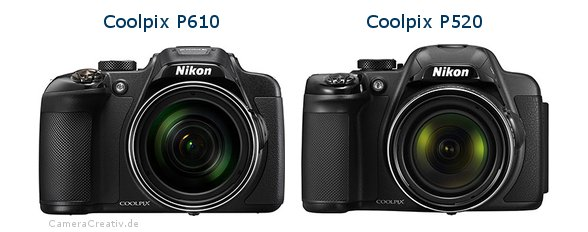 Nikon coolpix p610 vs Nikon coolpix p520