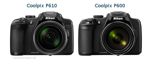 Nikon coolpix p610 vs Nikon coolpix p600