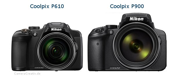 Nikon coolpix p610 vs Nikon coolpix p900