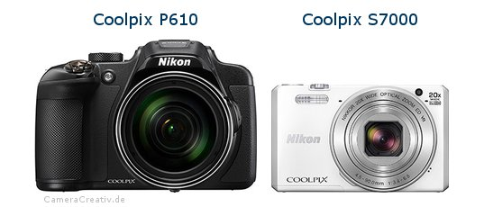 Nikon coolpix p610 vs Nikon coolpix s7000