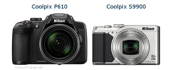 Nikon coolpix p610 vs Nikon coolpix s9900