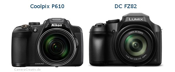 Nikon coolpix p610 vs Panasonic dc fz 82
