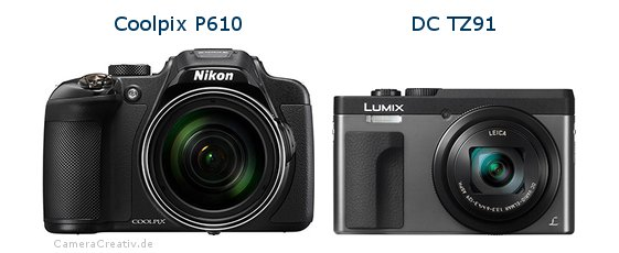 Nikon coolpix p610 vs Panasonic dc tz 91