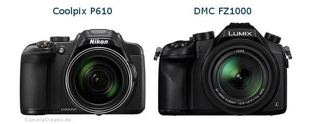 Nikon coolpix p610 vs Panasonic dmc fz 1000