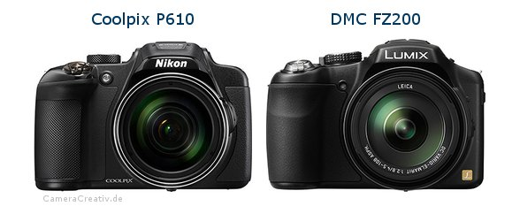 Nikon coolpix p610 vs Panasonic dmc fz 200