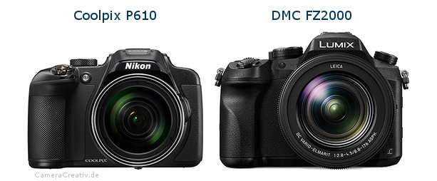 Nikon coolpix p610 vs Panasonic dmc fz 2000