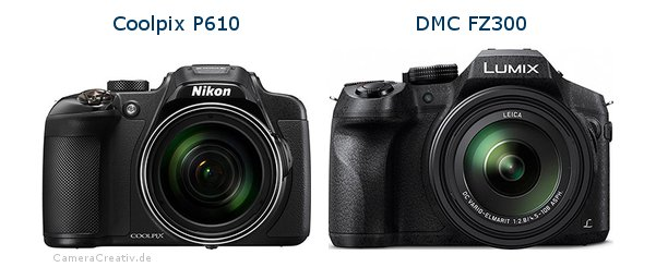 Nikon coolpix p610 vs Panasonic dmc fz 300