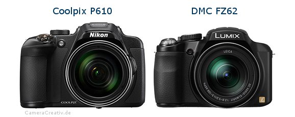 Nikon coolpix p610 vs Panasonic dmc fz 62