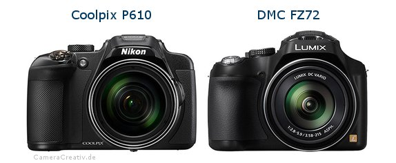 Nikon coolpix p610 vs Panasonic dmc fz 72