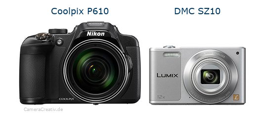 Nikon coolpix p610 vs Panasonic dmc sz 10